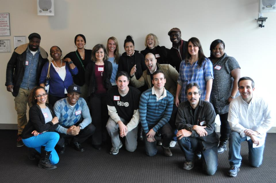 TSC with HBO volunteers and Free Arts staff at NYU